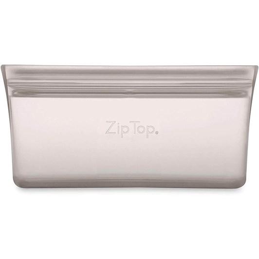 Zip Top  Snack Bag 118ml Grey
