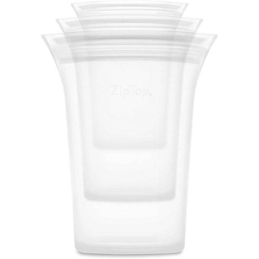Zip Top  Cup 3 Set S/M/L Frost