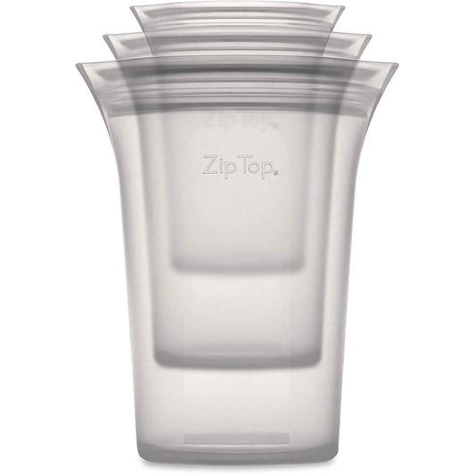 Zip Top  Cup 3 Set S/M/L Grey