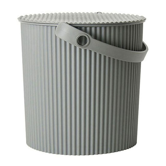 Hachiman Small Storage Bucket With Lid Grey 4L