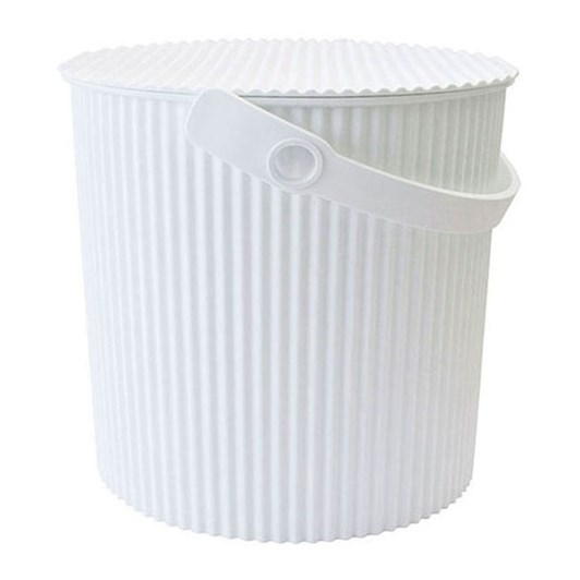 Hachiman Small Storage Bucket With Lid White 4L