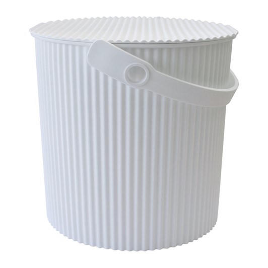 Hachiman Extra Large Storage Bucket With Lid White 20L