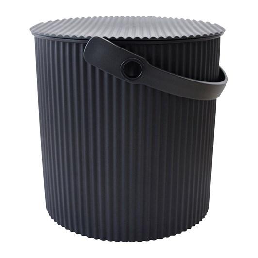 Hachiman Medium Storage Bucket With Lid Black 8L