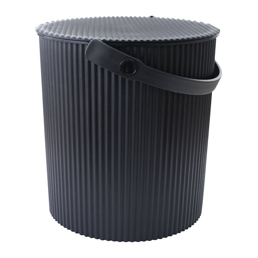 Hachiman Extra Large Storage Bucket With Lid Black 20L