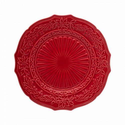 Bordallo Christmas Charger Plate Red