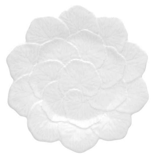 Bordallo Geranium Charger Plate White