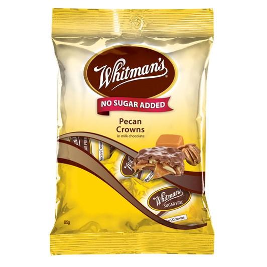Whitmans No Sugar Added Pecan Crowns  - 85gm