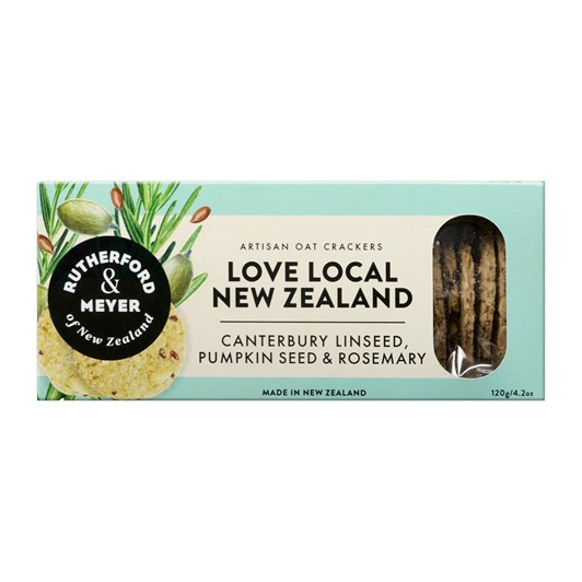 Rutherford & Meyer Love Local Crackers - Linseed