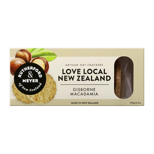 Rutherford & Meyer Love Local Crackers - Macadamia 120g