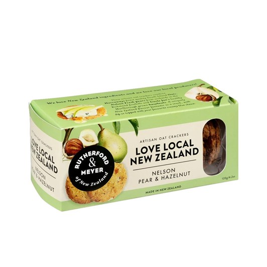 Rutherford & Meyer Love Local Crackers - Pear & Hazelnut
