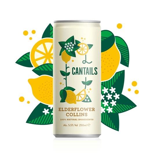 Cantails Elderflower Collins 250Ml