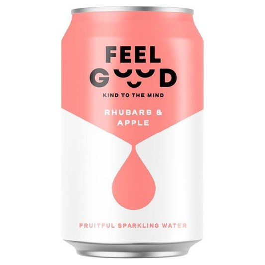 Feel Good Rhubarb And Apple Fruitful Sparkling Water 330Ml