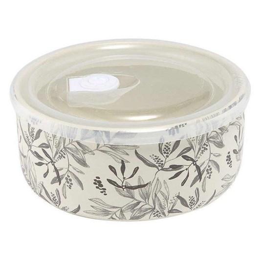 Ladelle Grown Charcoal Leaf Microwave Food Bowl 16cm