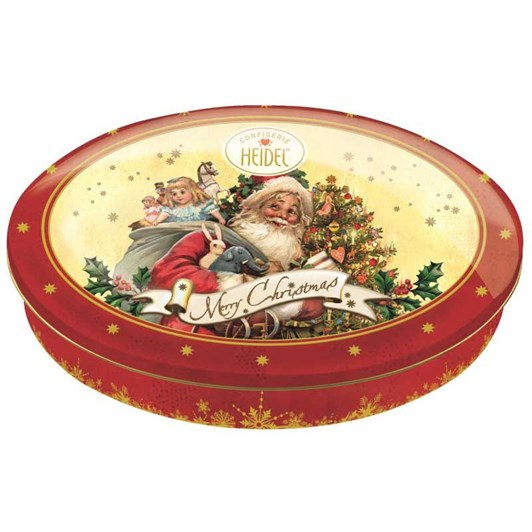 Heidel Christmas Nostalgia Round Tin Gift Box Assorted Chocolates 183g