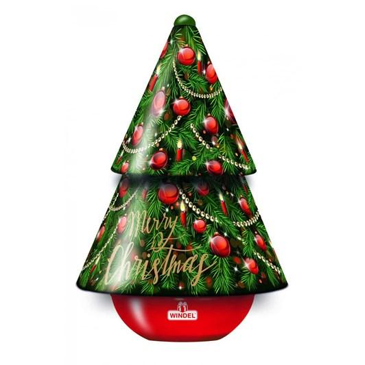 Windel Christmas Tree Metal Music Box Chocolate Pralines 150g