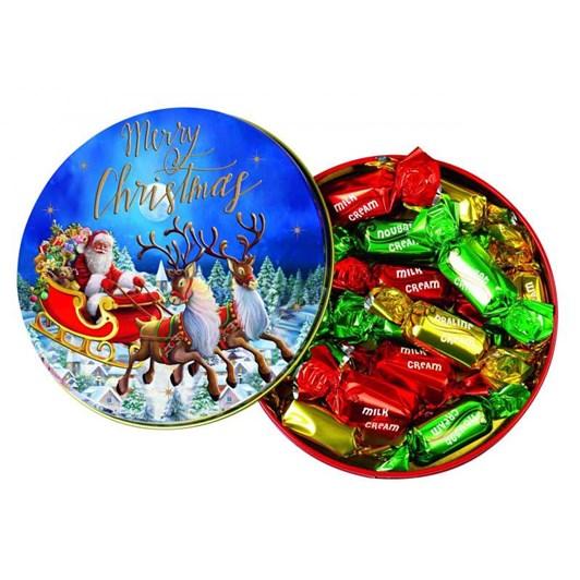 Windel Christmas Round Tin Box Assorted Chocolates 162g