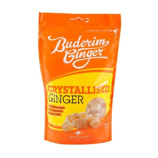 Buderim Crystalised Ginger - 250gm