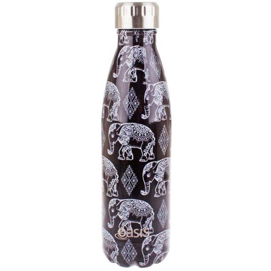 D.Line Oasis S/S Insulated Drink Bottle 500ml Jungle Friends