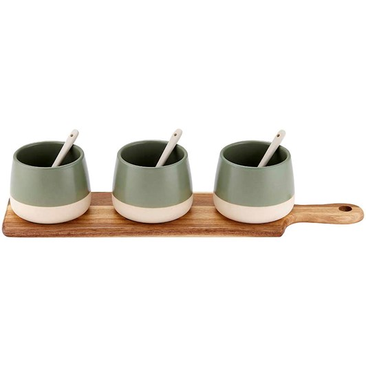 Ladelle Host Sage Bowl & Spoon Paddle