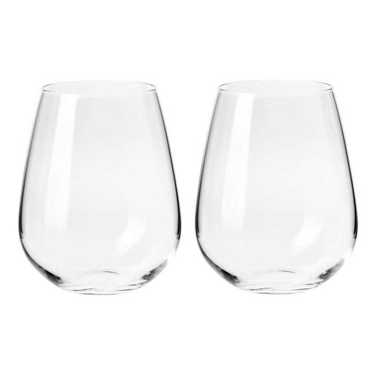 Krosno  Duet Stemless Wine Glass 500ml Set Of 2 Gift Boxed