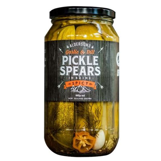 Alderson's Spicy Pickle Spears 985g