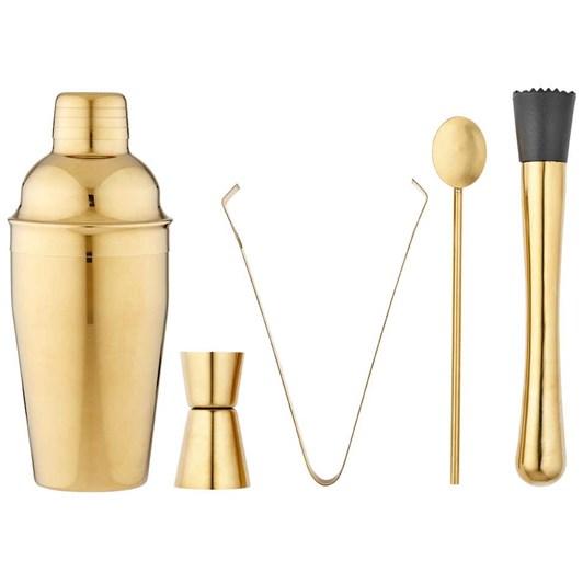 Aurora 5Pc Gold Cocktail Set