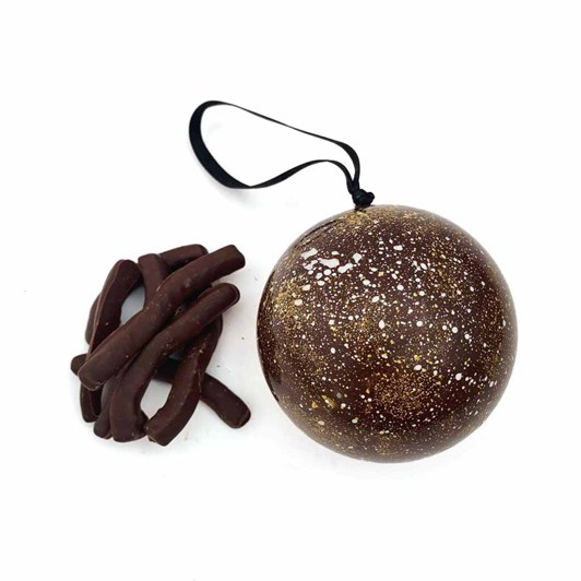 Honest Chocolat Dark Choc Bauble With Orange Peel
