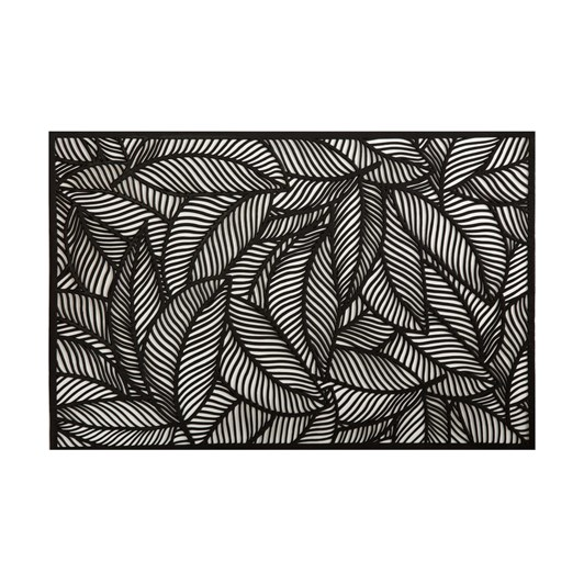 Maxwell & Williams Table Accents Cut-Out Placemat 45x30cm Leaf Black