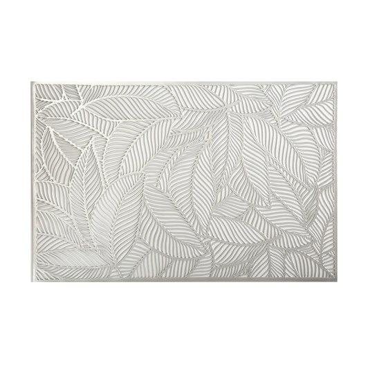Maxwell & Williams Table Accents Cut-Out Placemat 45x30cm Leaf Silver