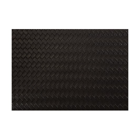 Maxwell & Williams Table Accents Leather Look Placemat 43x30cm Black Plait