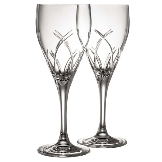 Galway Crystal Mystique White Wine Pair