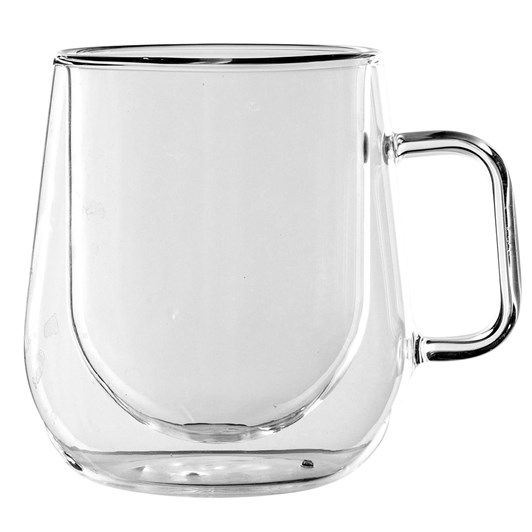 Di Antonio Double Walled Latte Glass 300ml - Pair