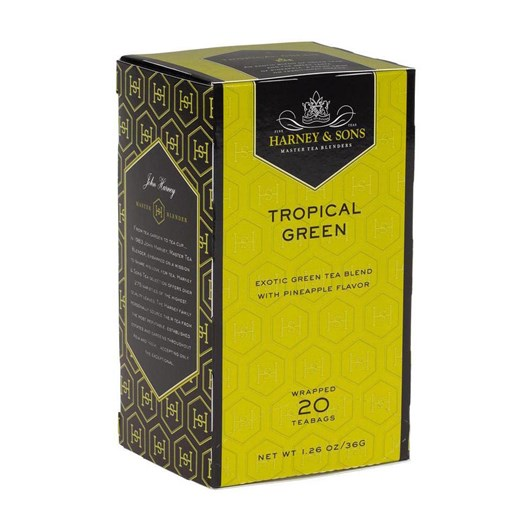 Harneys Tropical Green Teabags - Box Of 20