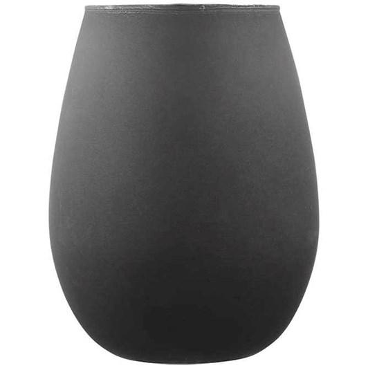 Aurora Matte Black Glass Tumbler Set Of 2