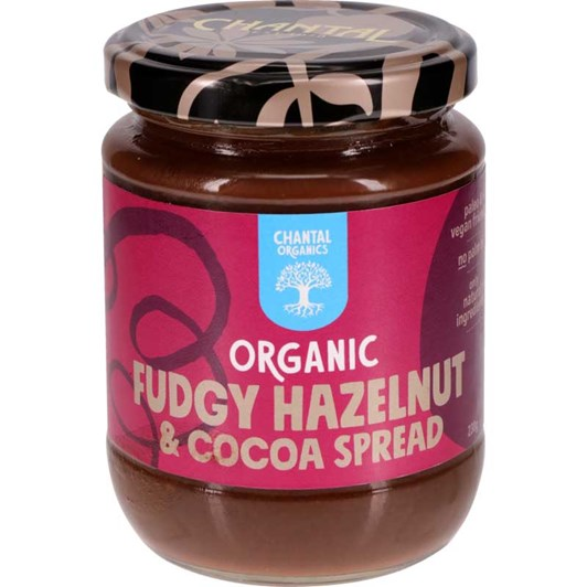 Chantal Organic Fudgy Hazelnut & Cocoa Spread 230g