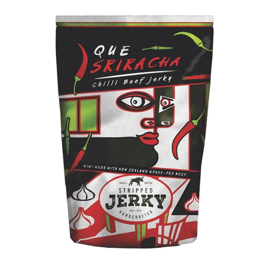 Stripped Que Sriracha Chilli Beef Jerky 80g
