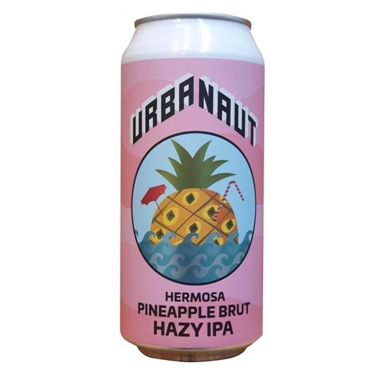 Urbanaut Hermosa Pineapple Brut Hazy IPA (6.3%) 440ml