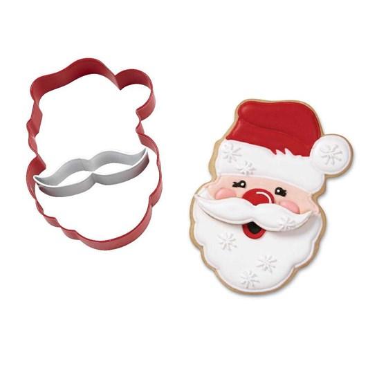 Wilton Santa With Mustache Cookie Cutter Set