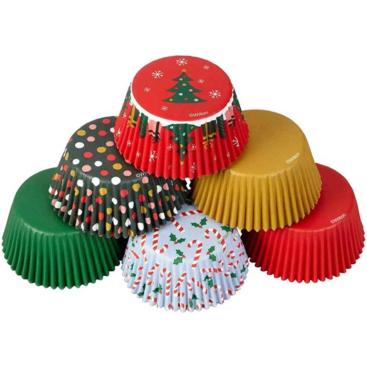 Wilton Standard Cup Christmas Traditional 150Ct