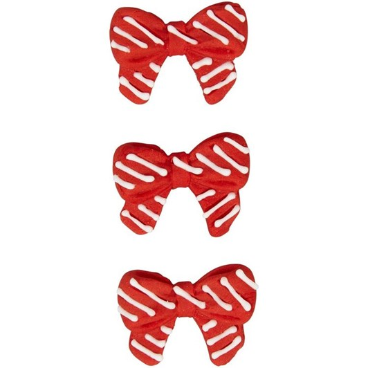 Wilton Red & White Bow Icing Decorations