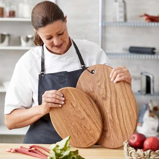 Blomsterbergs Oak Board Oval 31x22cm