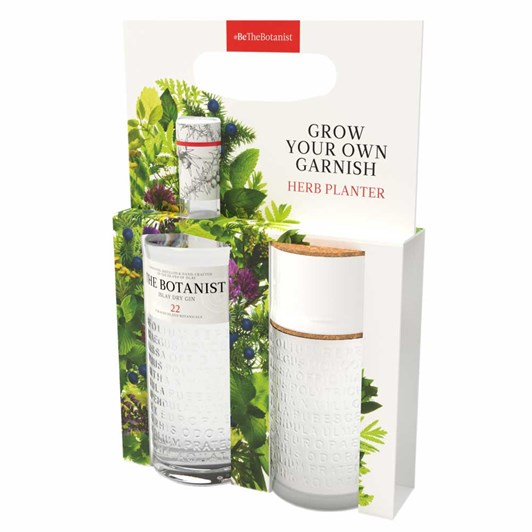 The Botanist Gin And Herb Planter Gift Set 700ml