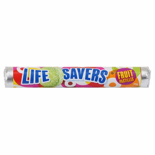 RJ's Lifesavers Fruit Pastile - 34g