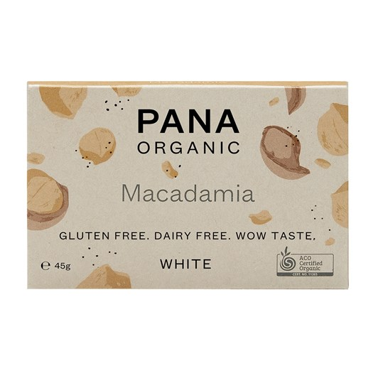 Pana White Chocolate Bar Macadamia 45g