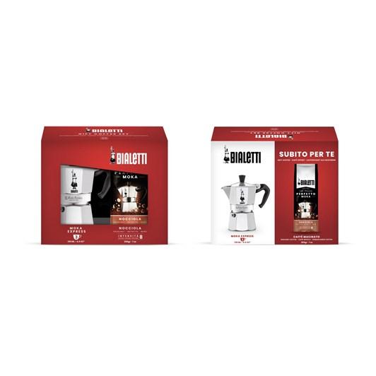 Bialetti Moka 3 Cup Coffee Maker & Hazelnut Coffee Gift Set
