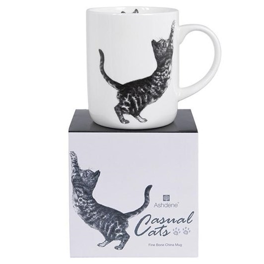 Ashdene Casual Cats Scratching Large Can Mug