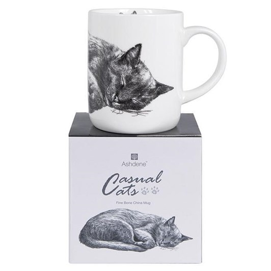 Ashdene Casual Cats Sleeping Large Can Mug