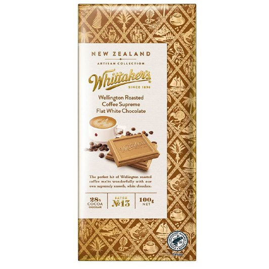Whittaker's Roasted Coffee Supreme Flat White Chocolate 100g