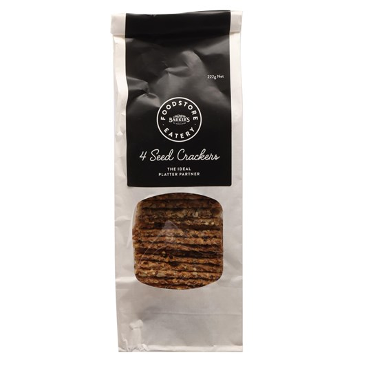 Barkers Foodstore Eatery Black Label Four Seeded Crackers 222g