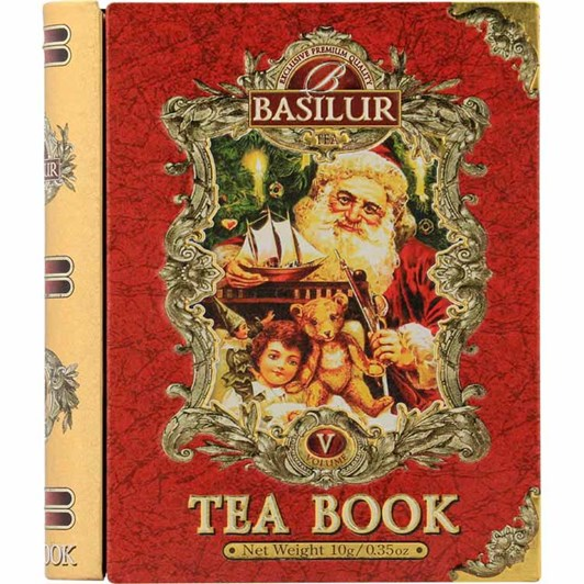 Basilur Vintage Christmas Tea Book Red